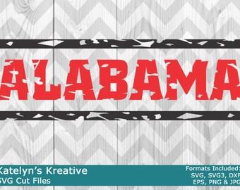 Alabama Distressed SVG Files