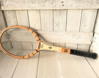 Vintage tennis racket racquet wood Wilson Jack Kramer Autograph 1960s- free shipping US