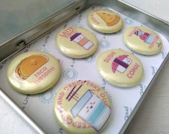 Food Fun Magnet Gift Set, foodie puns, foodie gift