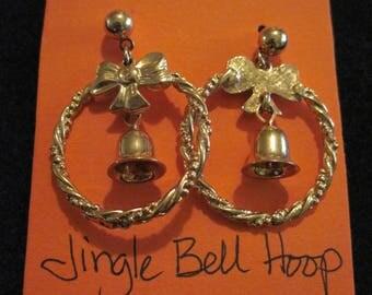 Vintage BEAUTIFUL Jingle Bell Hoop Earrings...1992....by Avon...219
