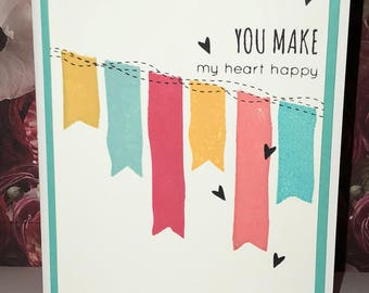 Various discounted handmade hello cards