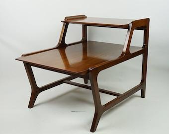 Lane Mid Century modern end table / Lane step end table / Step end table / Mcm side table / Eames era furniture