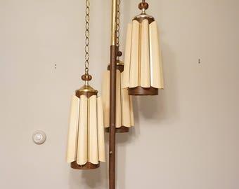 Mid Century Modern tension pole lamp / MCM tension pole lamp / Danish modernrRetro lighting / Mid Century lighting floor lamp