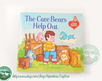 The Care Bears Help Out Vintage Kids Mini-Book 1980s