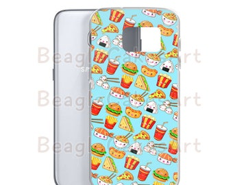 Food Phone Case, Case for Samsung Colorful Phone Case, Samsung Galaxy S7 Case, Kawaii Phone Case, Slim Phone Cover, Custom Phone Case, Gift