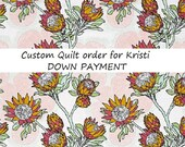 Final Payment - rag quilt KING - CUSTOM - reversible extra wide and long