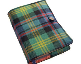 Tartan Bible Cover in Watson Ancient Wool Tartan, Made to Order only, UK Seller, Suitable for Hardback Books or Paperback Books