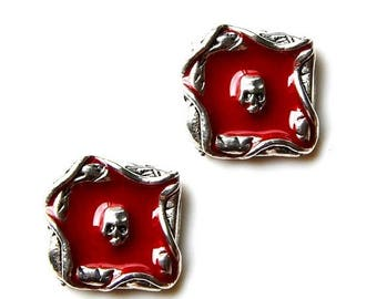 Limited Time Offer Skull in Hell Cufflinks - Gifts for Men - Anniversary Gift - Handmade - Gift Box Included