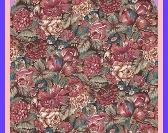 ON SALE Cotton Calico Fabric Floral Print Quilting BTY or Fat Quarters Ozark