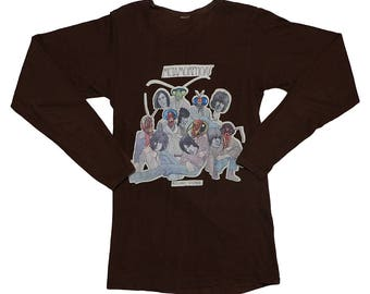 Rolling Stones Shirt Vintage tshirt 1975 Metamorphosis Promo Long Sleeve tee 1970s Mick Jagger Ronnie Wood Keith Richards Band Rock N Roll