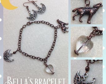 Twilight Bella's Charm Bracelet- Graduation- Copper