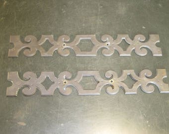 Pair of Large Vintage Brass Backplates