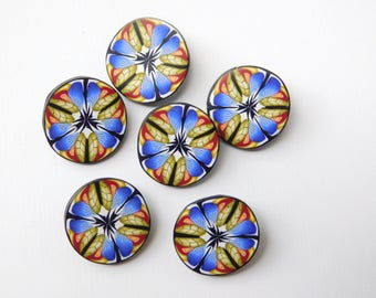 "5/8"" polymer clay shank buttons, 16 mm sewing buttons"