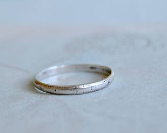 Rustic Sterling Silver Band - Size 7