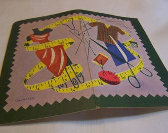 Vintage Needle Book Featuring Sewing Notions,  Advertising
