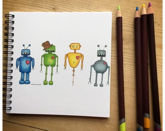 Robots Notebook featuring the WhimBots