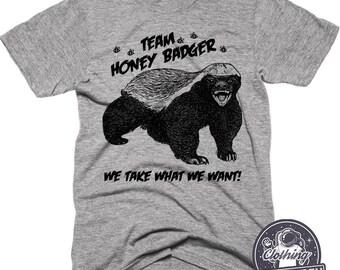 Honey Badger Shirt   Funny Shirts   Honey Bee Shirt   Mens Tshirts   Womens Shirts   Graphic Tee   Funny Badger Tshirt   Camping Shirt