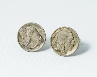 Buffalo Nickel / Indian Head Nickel Coin Cufflinks