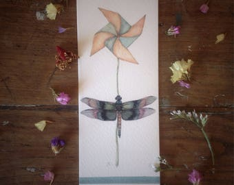 Bookmark with dragonfly