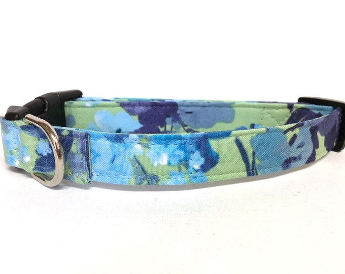 Featured listing image: Naked Dog Collar- The Denim and Gems- Adjustable Collar