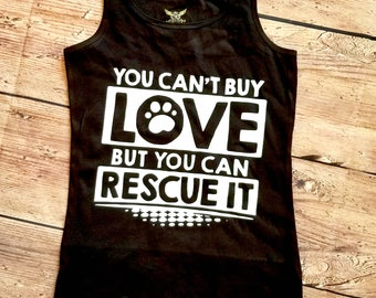 Pet Rescue Adopt A Pet Shelter Animals Dogs Cats Tank Top Mom Shirt