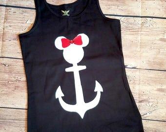 Minnie Mickey Disney Cruise Anchor Shirt Mama Tank Top Mom Shirt