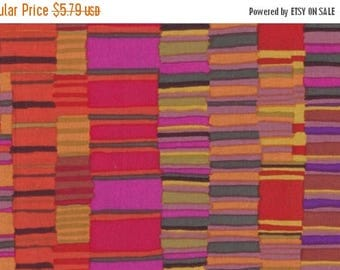 20 % off thru 7/4 SHIRT STRIPES-red by the half yard Kaffe FASSETT Classics cotton quilt craft fabric stacked red orange strips Westminster