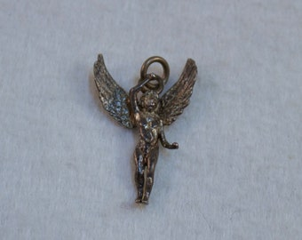 Vintage 800 Silver Angel Charm or Pendant