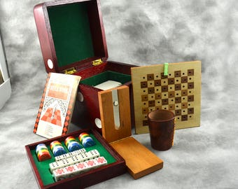 Wooden Multiple Game Dice Box