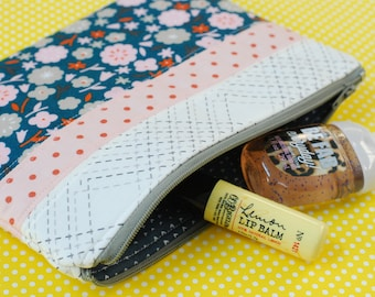 FREE SHIPPING! Zipper Pouch, Pencil Pouch, Pencil Case, School Supplies, Lip Gloss Storage