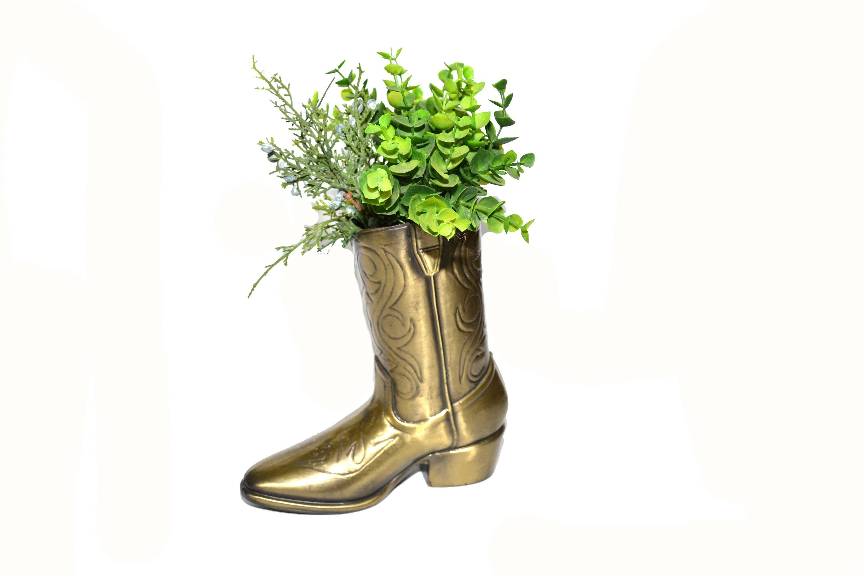 Vintage brass cowboy boot cowboy boot vase cowboy boot planter vintage brass cowboy boot cowboy boot vase cowboy boot planter southwestern vase succulent planter reviewsmspy