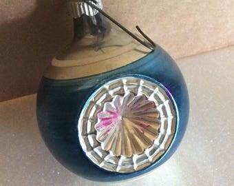 Shiny Brite Old Christmas Tree Glass Ornament