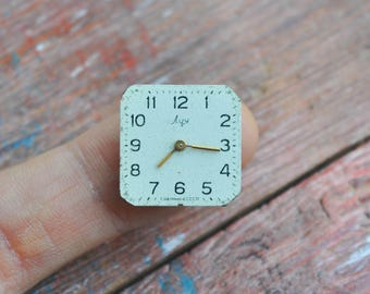 LUCH 0.6 inch Vintage wrist watch movement for parts.