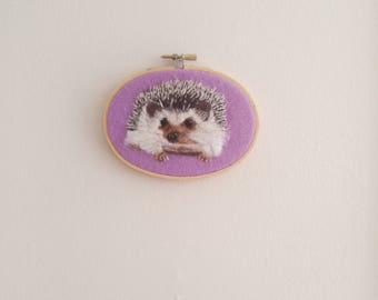felt hedgehog wool painting home decor