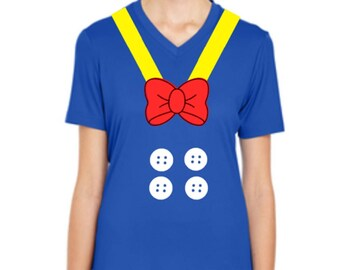 V Neck Donald Duck Shirt, Donald Duck Costume, Donald Duck Run Disney Shirt, Donald Duck Performance Shirt, Donald Duck Run Disney Outfit