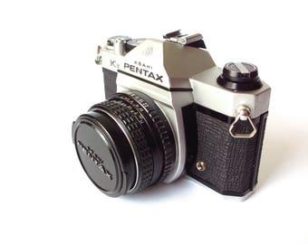 Pentax K1000 35mm Camera with 50mm Lens, Manual, Box, Original Strap, etc.