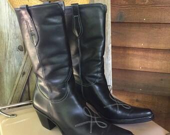 Franco Sarto Ladies Cowboy Boots Size 8