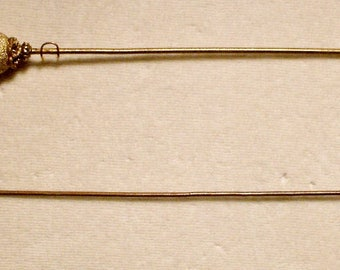 2 Antique Style Victorian Hat Pins Extra Long with Vintage & Antique pieces