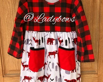Buffalo Plaid Girls Dress
