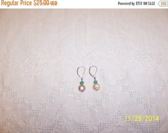 TWICE A YEAR, 25% Off Vintage Fresh Water pearls earrings. Sterling Plated.