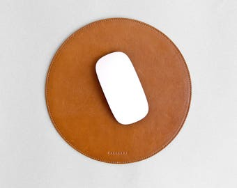 Thin leather mouse pad, slim mat, mousepad // SURFACE 2017 (Brown)