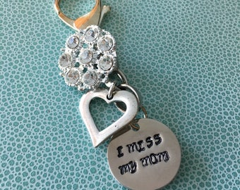 1 - Mom Charm Jewelry Hand Stamped Mommy Love