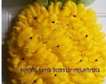 Pineapple Mesh Wreath (SOLD)
