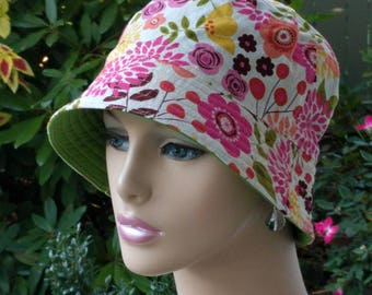 Cancer Hats Bucket Hat Alopecia Hats Chemo Hats Reversible. Made in the USA. MEDIUM