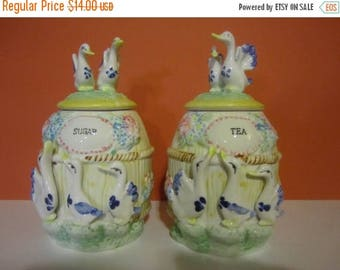 Summer Sale Ceramic Tea and Sugar jars