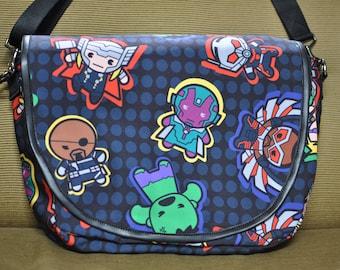 Marvel's Kawaii Print Fabric-Characters Cross Body Bag