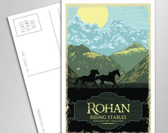 Rohan Riding Stables Vacation Postcard - 4 x 6 inches - Lord of the Rings