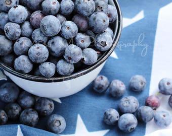 Fourth Of July 4th Americana Flag White Blue Kitchen