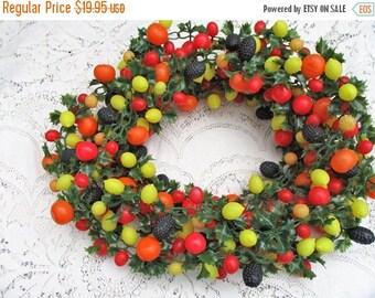 """SALE 20% OFF Vintage Molded Plastic Fruit Garland Swag 174"""" , 14 ft."""