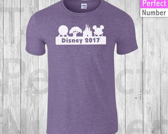 Disney  Animal Kingdom, Magic Kingdom, Epcot, Hollywood Studios Family Vacation Shirts